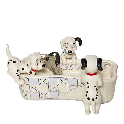 Disney Traditions 101 Dalmatians Bone Dish Puppy Bowl by Jim Shore Statue