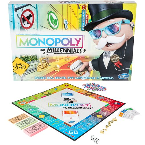 Monopoly for Millennials Edition Board Game