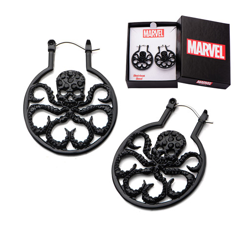Agents of SHIELD Hydra Bling Gems Hoop Earrings