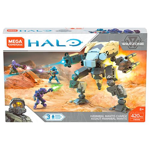 Halo Mega Construx Hannibal Mantis Charge Playset