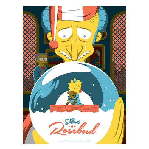 The Simpsons Rosebud Silk Screen Art Print