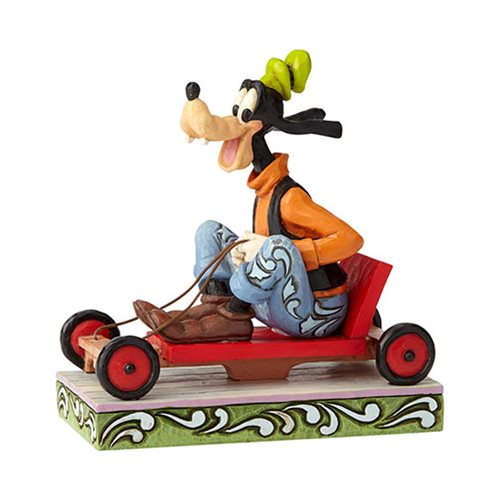 Disney Traditions Soap Box Derby Goofy Life in the Slow Lane Statue by Jim Shore