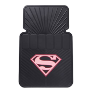 Supergirl Pink Shield Rubber Floor Mat 2-Pack