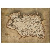 The Elder Scrolls V: Map of Skyrim Rolled Canvas Art Print