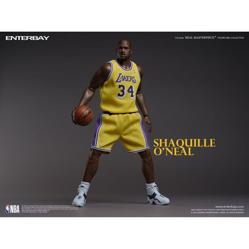 NBA Los Angeles Lakers Shaquille O'Neal 1:6 Scale Real Masterpiece Action Figure
