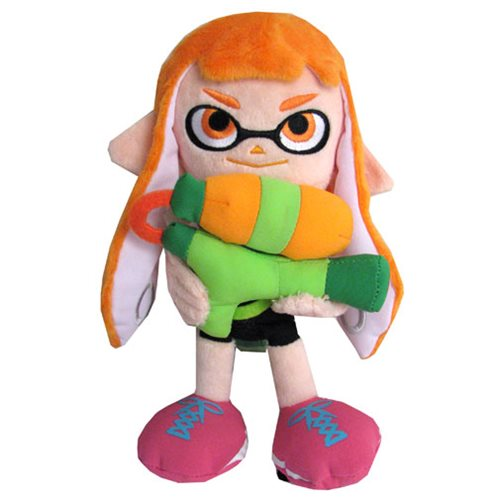 Splatoon Inkling Girl Orange 9-Inch Plush