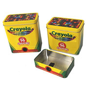 Crayola Crayon Tin with Detachable Sharpener