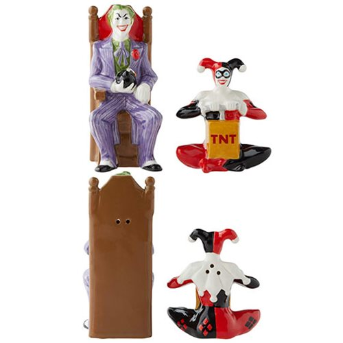 DC Comics Joker and Harley Quinn Salt and Pepper Shaker Set