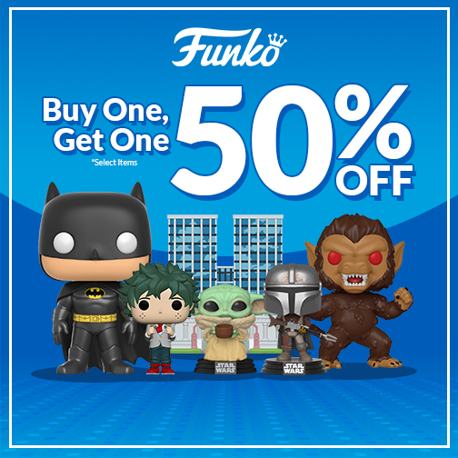 Funko Buy One Get One 50% Off Sale