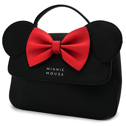 Minnie Mouse with Ears and Bow Crossbody Purse