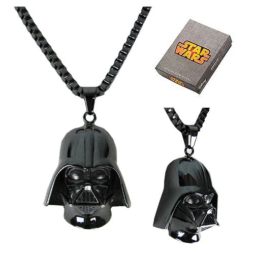 Star Wars Darth Vader Black 3-D Pendant Necklace