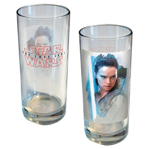 Star Wars: The Last Jedi Rey Brushstroke Portrait 15 oz. Glass