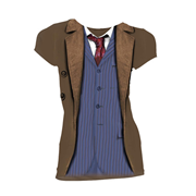 Doctor Who 10th Doctor Costume Ladies T-Shirt