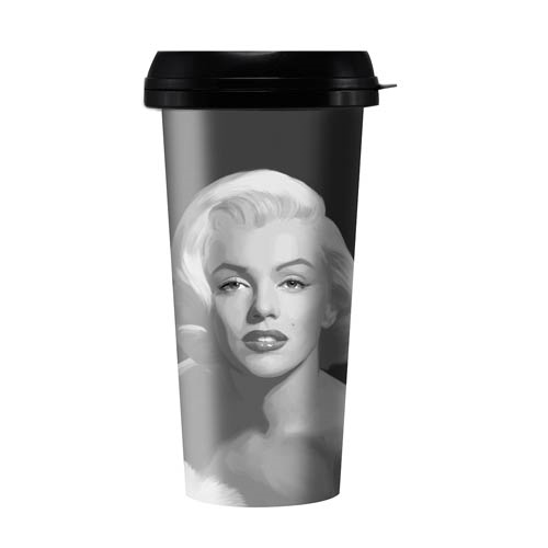Marilyn Monroe Gray Painting 16 oz. Travel Mug