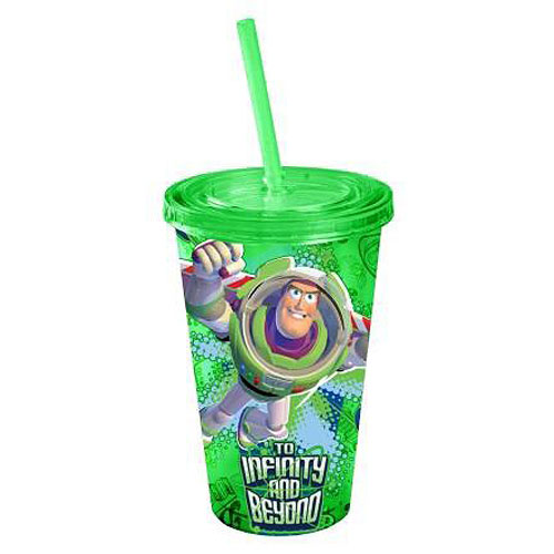 Toy Story Buzz Lightyear Green 16 oz. Plastic Travel Cup