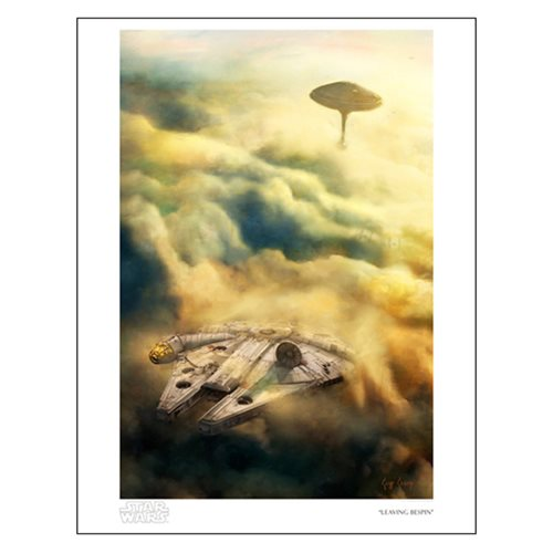 Star Wars Leaving Bespin by Cliff Cramp Paper Giclee Art Print