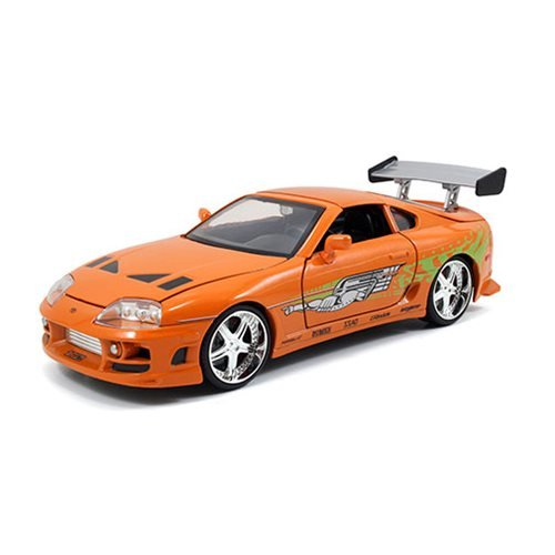 Fast and the Furious Brian's Toyota Supra 1:24 Scale Build and Collect Die-Cast Metal Vehicle with B