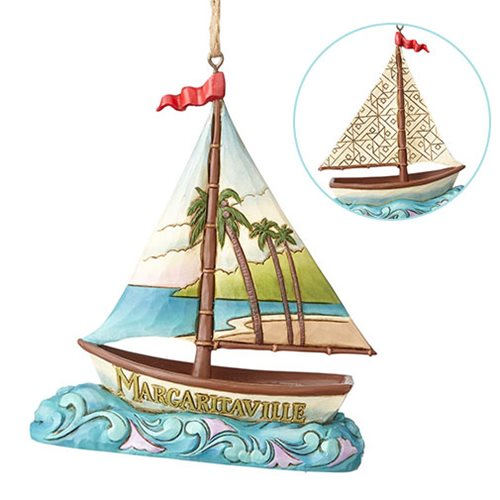 Margaritaville Sailboat Heartwood Creek Ornament by Jim Shore
