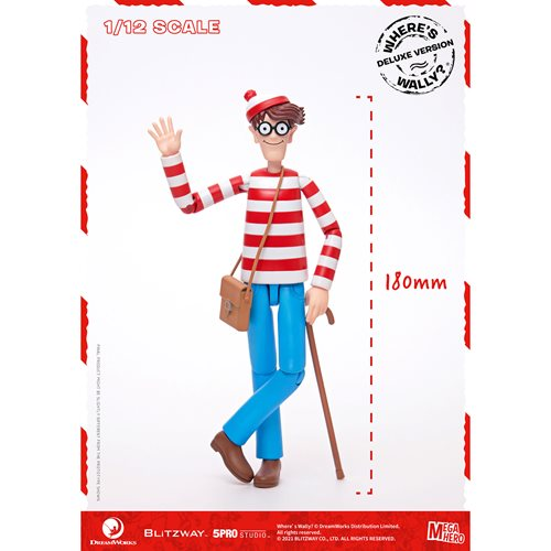 Where's Waldo? Waldo Megahero Series Deluxe 1:12 Scale Action Figure