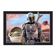 Star Wars: The Mandalorian and The Child Wood Wall Art