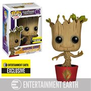 Guardians of the Galaxy Ravagers Logo Dancing Groot Pop! Vinyl Bobble Head Figure - Entertainment Earth Exclusive
