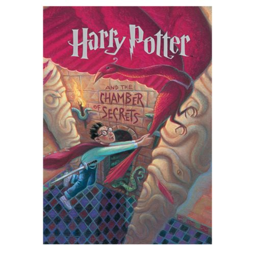 Harry Potter and the Chamber of Secrets Book Cover MightyPrint Wall Art Print
