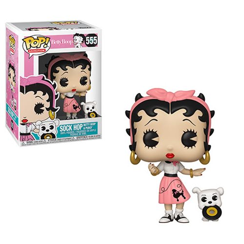 Betty Boop Sock Hop Pop! Vinyl Figure and Buddy #555, Not Mint