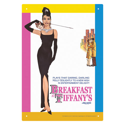 Breakfast at Tiffany's Breakfast Tin Sign