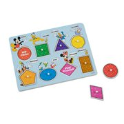 Mickey Mouse Colors and Shapes Wooden Peg Puzzle