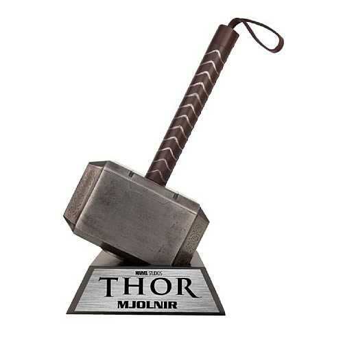 thor mjolnir hammer of thor prop replica entertainment earth