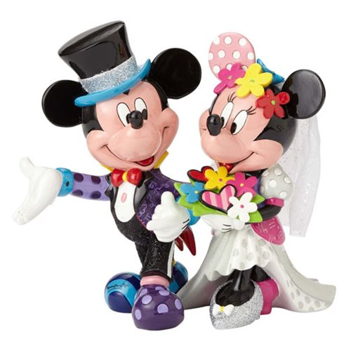 Disney Mickey Mouse and Minnie Mouse Wedding Statue by Romero Britto