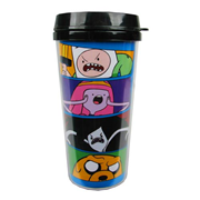 Adventure Time Angry Character Faces 16 oz. Travel Mug