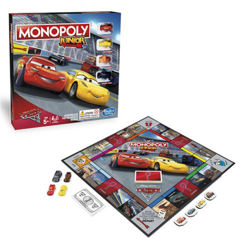Cars 3 Monopoly Junior Game