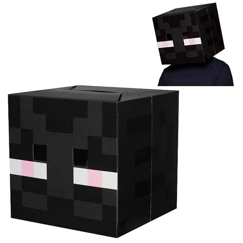 Minecraft Enderman Head Cardboard Mask