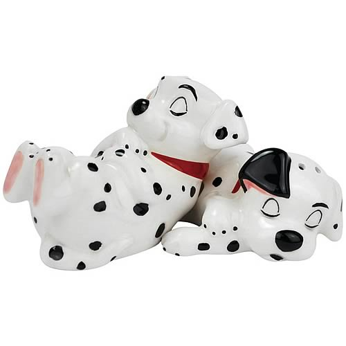 101 Dalmatians Puppies Sleeping Salt and Pepper Shakers