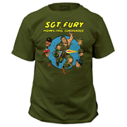 Marvel Sgt. Fury and His Howling Commandos Green T-Shirt