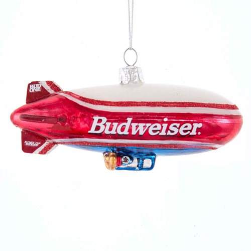 Budweiser Blimp 4 1/2-Inch Glass Ornament