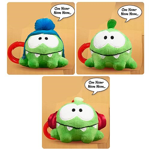 Cut the Rope 3-Inch Talking Plush with Backpack Clip Case