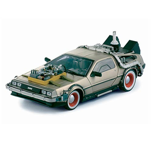 Back to the Future Part III DeLorean Time Machine 1:18 Scale Die-Cast Metal Vehicle