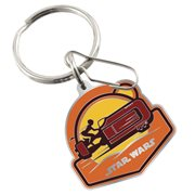 Star Wars Rey on Speeder Enamel Key Chain