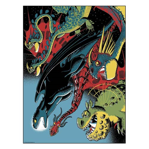 How to Train Your Dragon 2 Dragons Unite Silkscreen Artwork Print