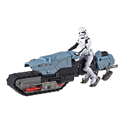 Star Wars: The Rise of Skywalker Galaxy of Adventures First Order Driver and Treadspeeder Vehicle