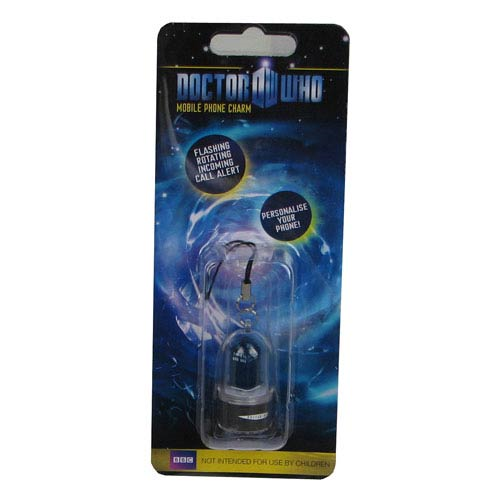 Doctor Who TARDIS Rotating LED Cell Phone Charm
