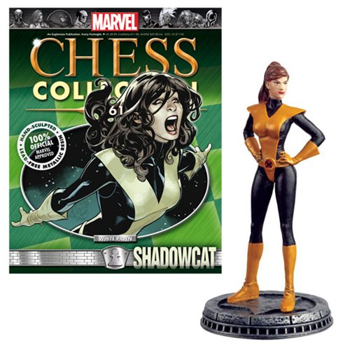 Marvel Shadowcat White Pawn Chess Piece with Collector Magazine