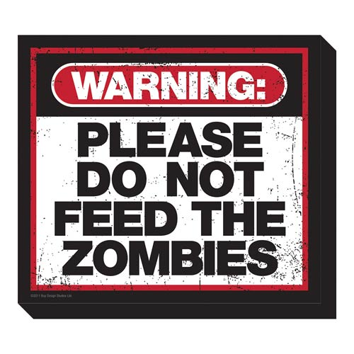 Zombie Warning Funky Chunky Magnet