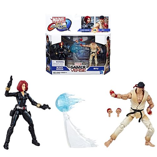 Marvel Gamerverse Marvel vs. Capcom Black Widow vs. Ryu 3 3/4-Inch Action Figure 2-Pack