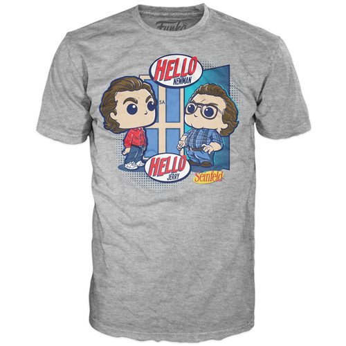 Seinfeld Jerry and Newman Adult Pop! T-Shirt