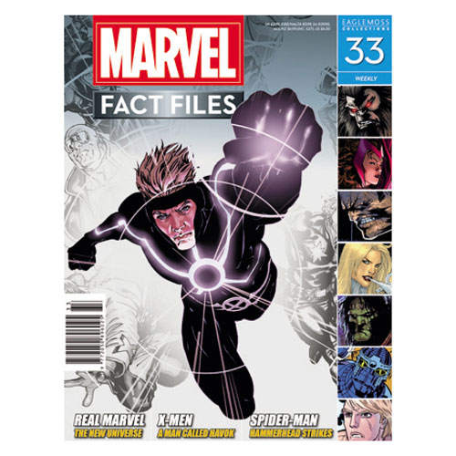 X-Men Havok Marvel Fact Files Collector Magazine