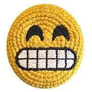 Emoji Grinning Face Crocheted Footbag