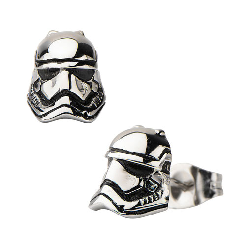 Star Wars: Episode VII - The Force Awakens Stormtrooper 3D Cast Stainless Steel Earrings